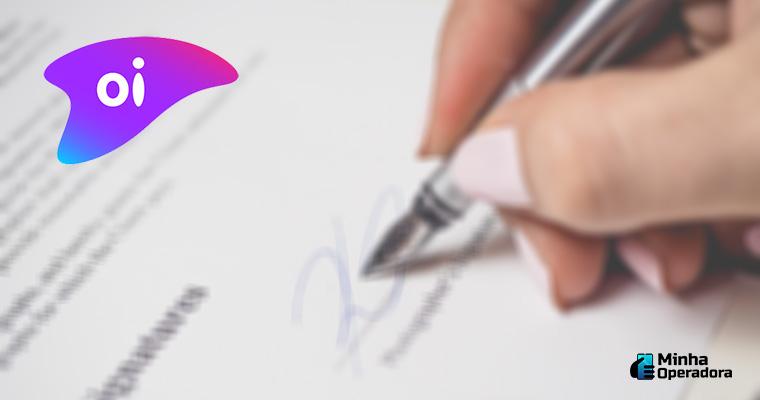Ilustração - Assinatura de papéis