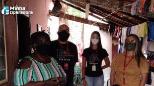 Família de Goiás recebe doações da Claro
