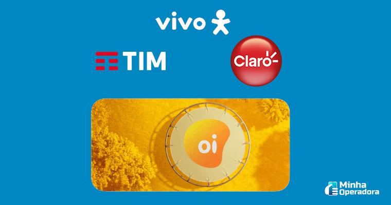 Imagem: Ilustração Vivo, TIM, Claro e Oi