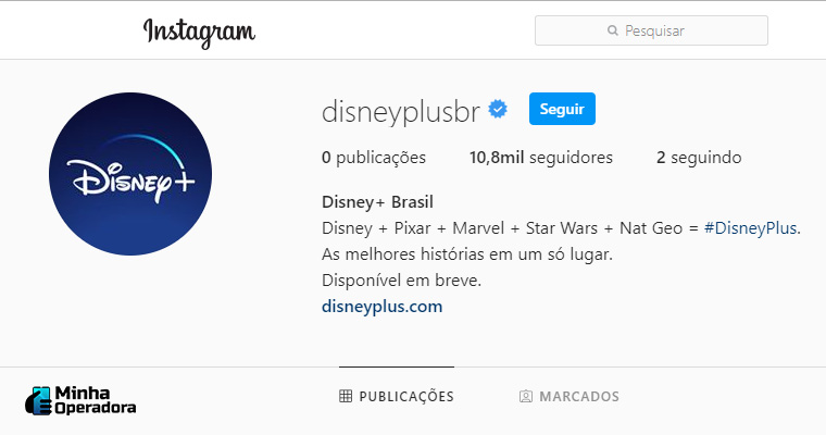 Instagram do Disney+