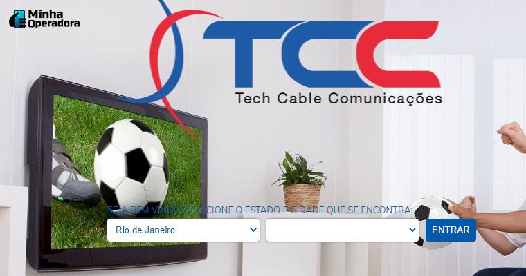 Website da Tech Cable