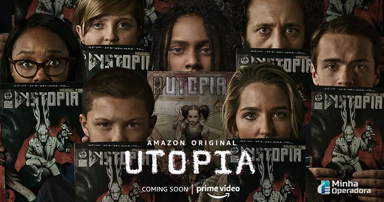 Pôster da série Utopia, que estreia no Amazon Prime Vídeo em outubro.