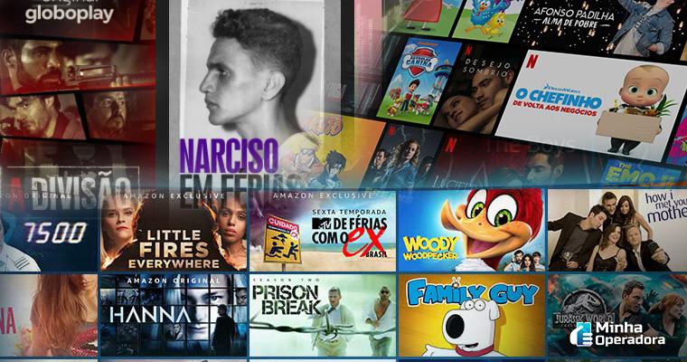 Catálogo Globoplay, Netflix e Amazon Prime Vídeo