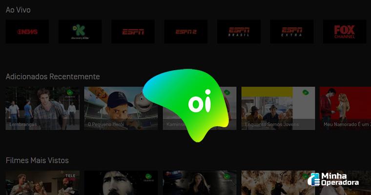 Interface do Oi Play