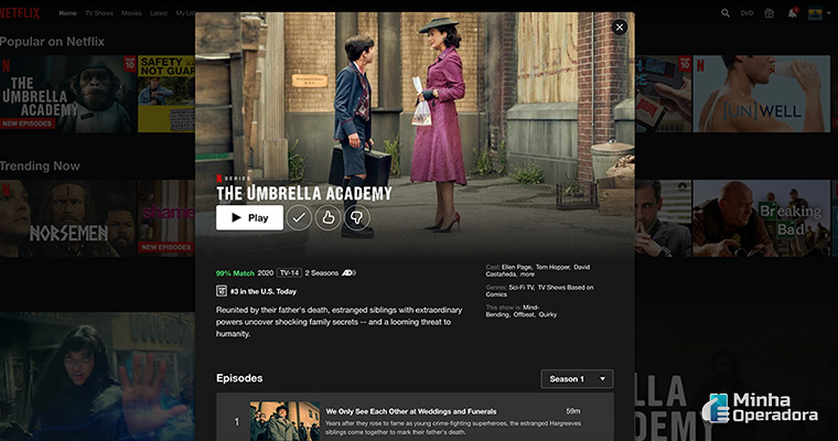 Novo design da Netflix. Imagem: Divulgação BGR