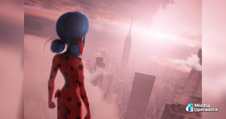 Imagem: Pôster do filme 'Miraculous World: Nova Iorque, Heróis Unidos', lançamento do Telecine.