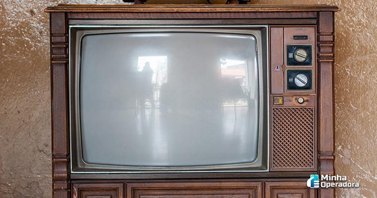 Televisão antiga - Ilustração