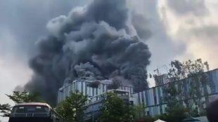Laboratório de pesquisa 5G da Huawei pega fogo na China