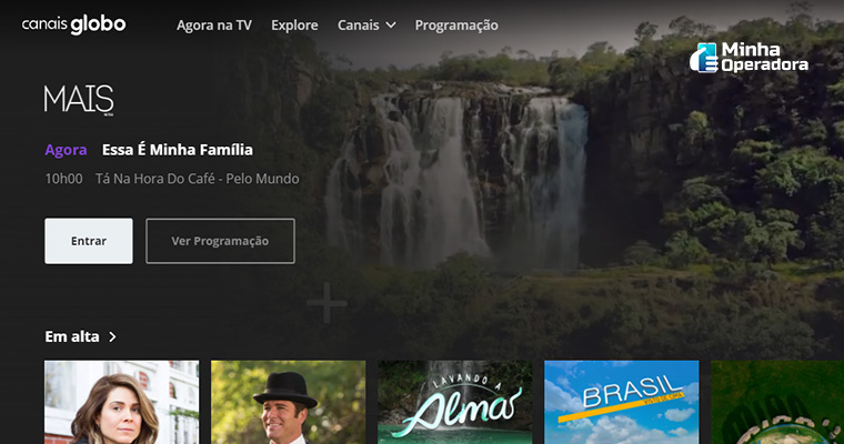 Programação do MAIS na Tela, da Globosat.