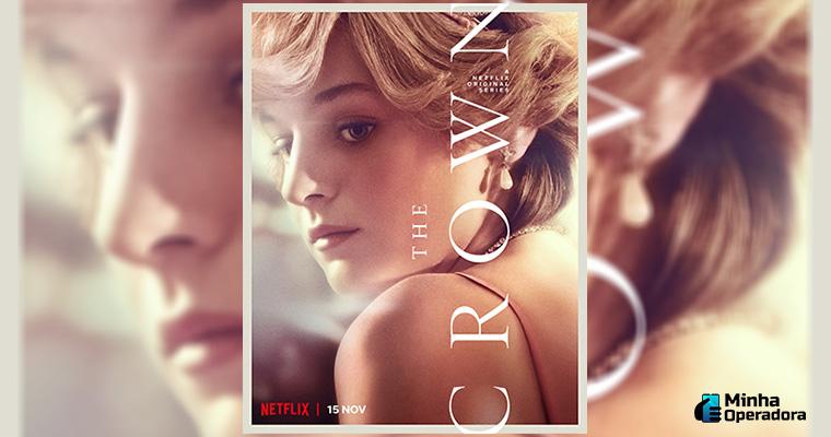 Pôster da série The Crown, próximo lançamento da Netflix. Imagem: Divulgação