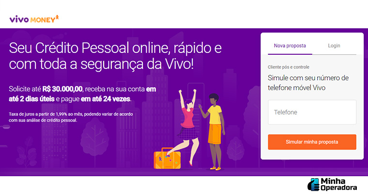 Site do Vivo Money