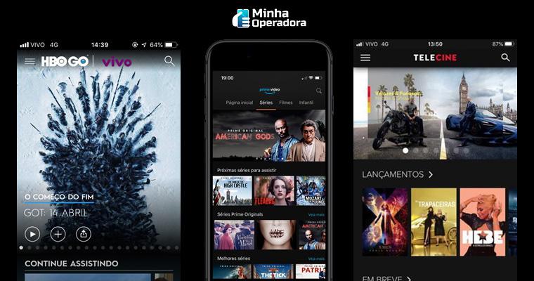 Serviços de streaming pela Vivo. Imagem: Divulgação