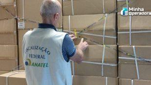 Anatel e Receita Federal apreendem milhares de produtos piratas