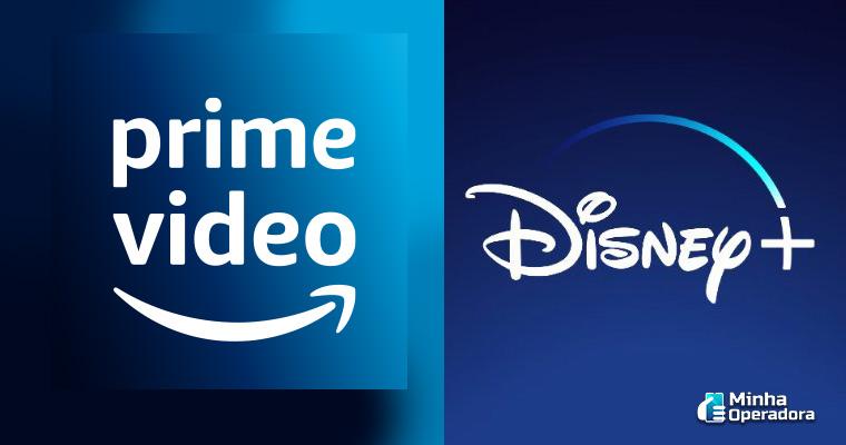 Logotipo Amazon Prime Vídeo e Disney+