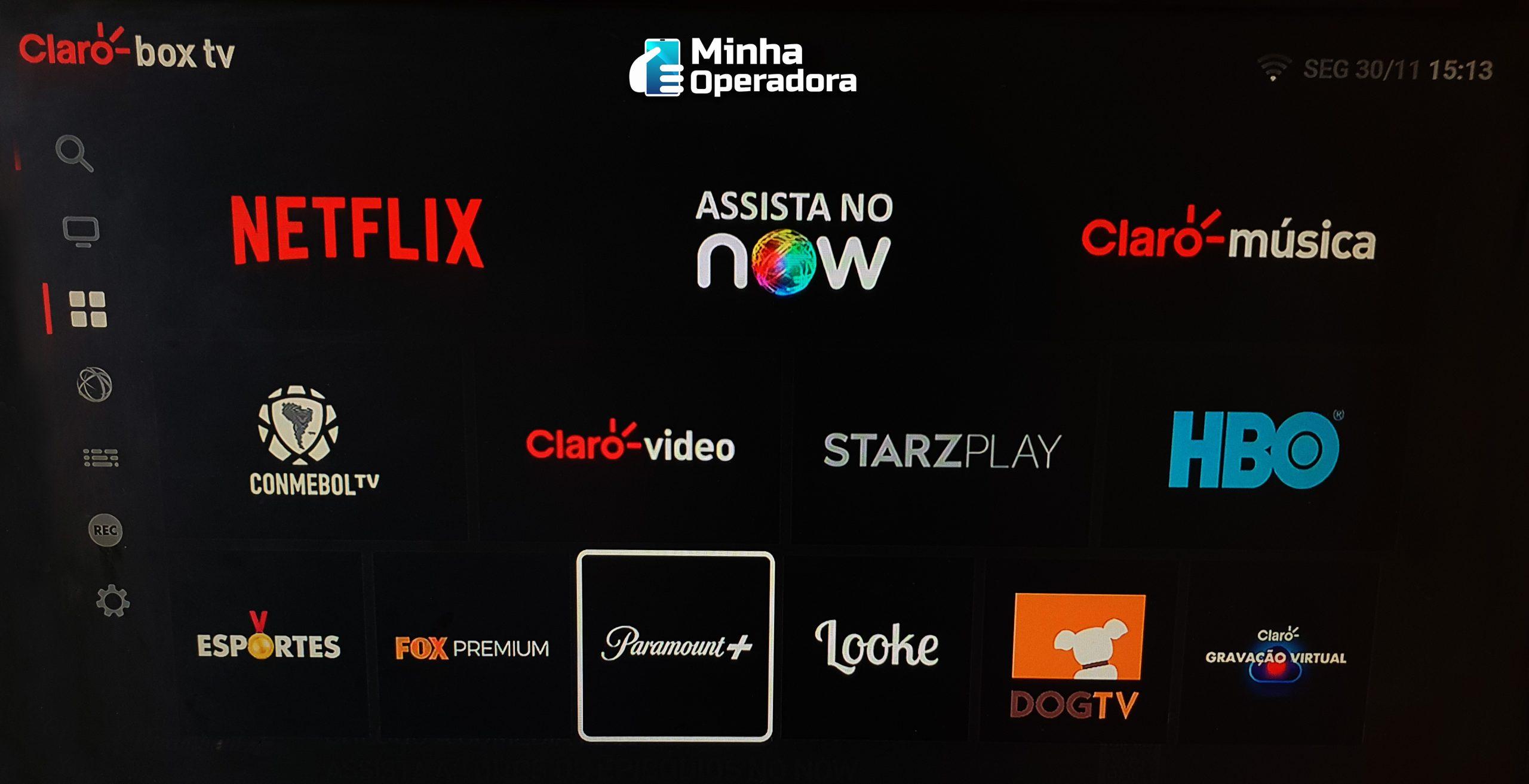 Apps do Claro Box TV