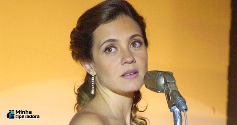 Adriana Esteves em Kubanacan, lançamento do Globoplay. Imagem: João Miguel Júnior/Globo Imprensa