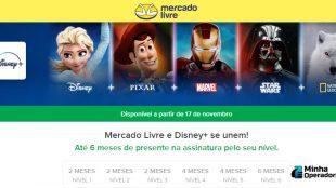 Mercado Livre vai oferecer até 6 meses gratuitos de Disney+