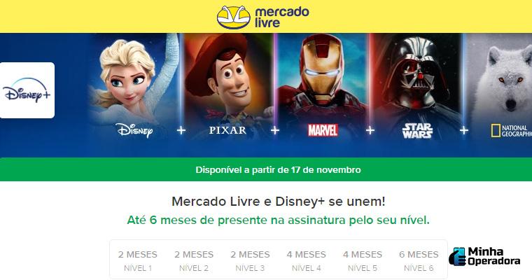 Divulgação Disney+ e Mercado Livre