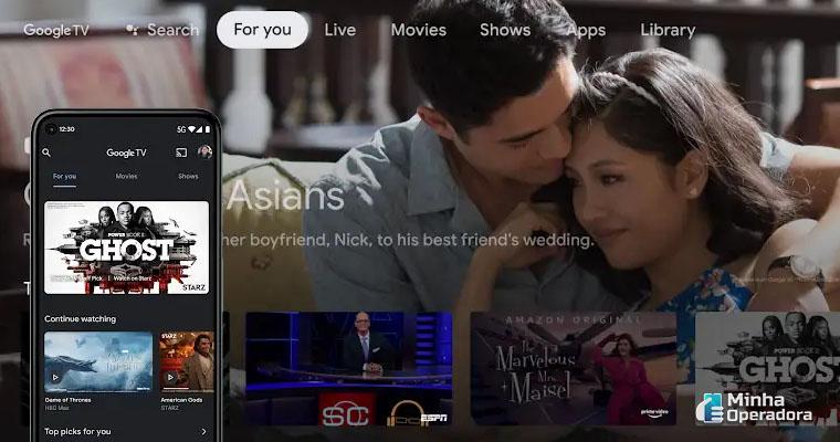 Anúncio Google TV