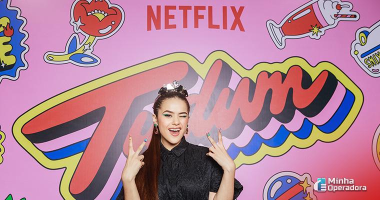 Imagem: Maisa no festival Tudum, da Netflix