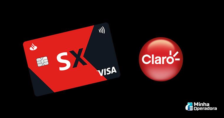 Imagem: Cartão SX e logo da Claro