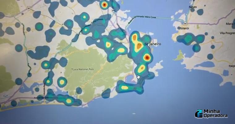 Mapa de Calor das operadoras