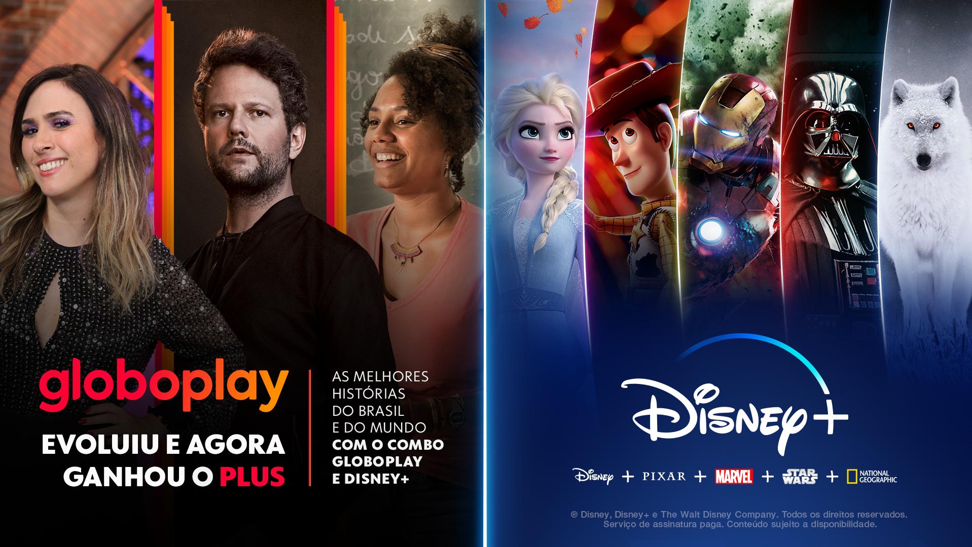 Parceria Globoplay e Disney+