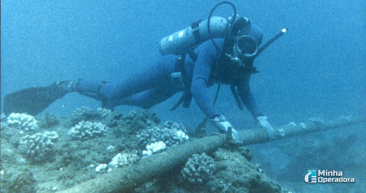 Ilustração - Cabo Submerso. Imagem: Wikimedia Commons