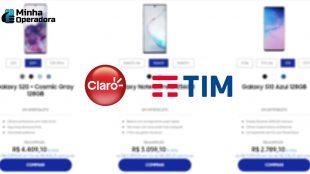 Claro e TIM fazem descontão em smartphone, sem inflar valores