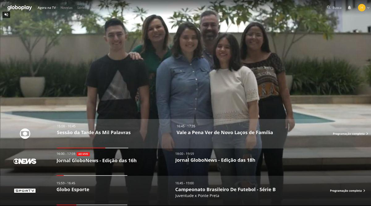 Canal ao vivo da Globo