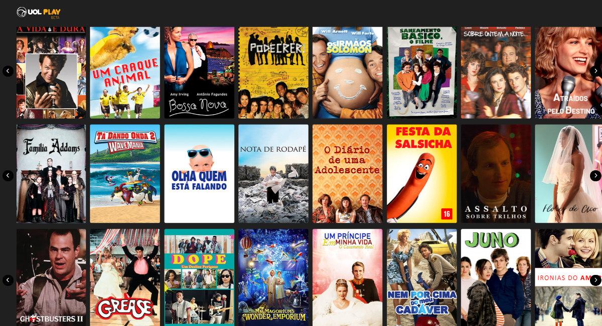 Catálogo de filmes.