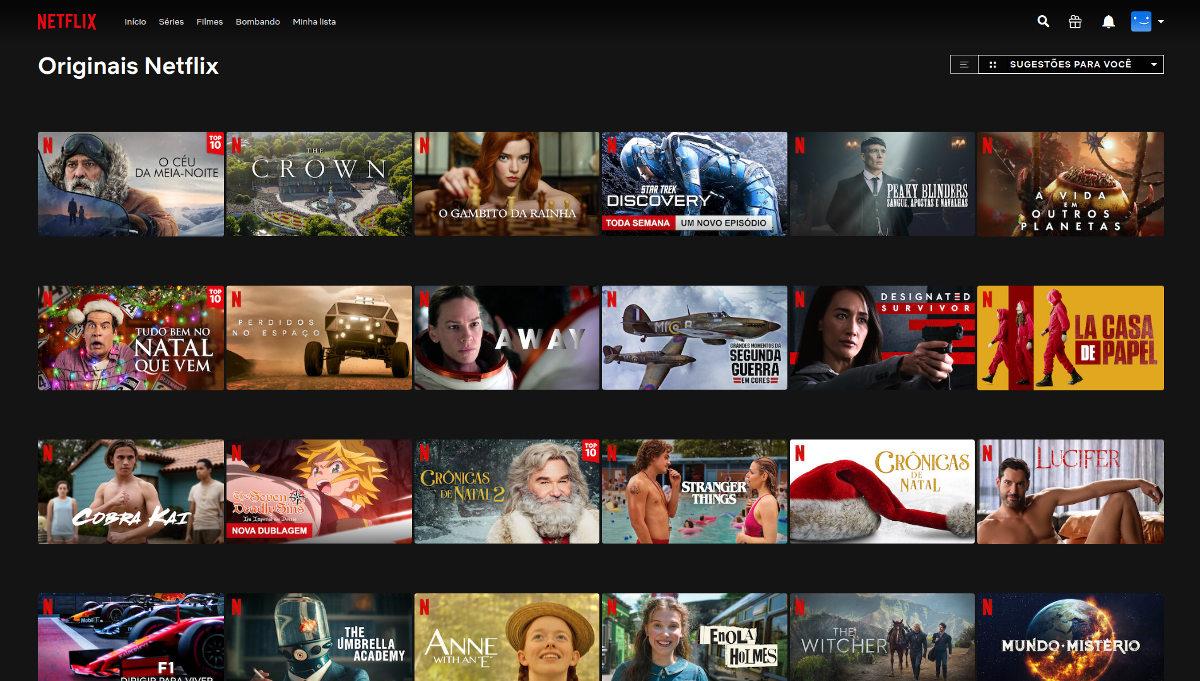 Exemplos de conteúdos originais da Netflix