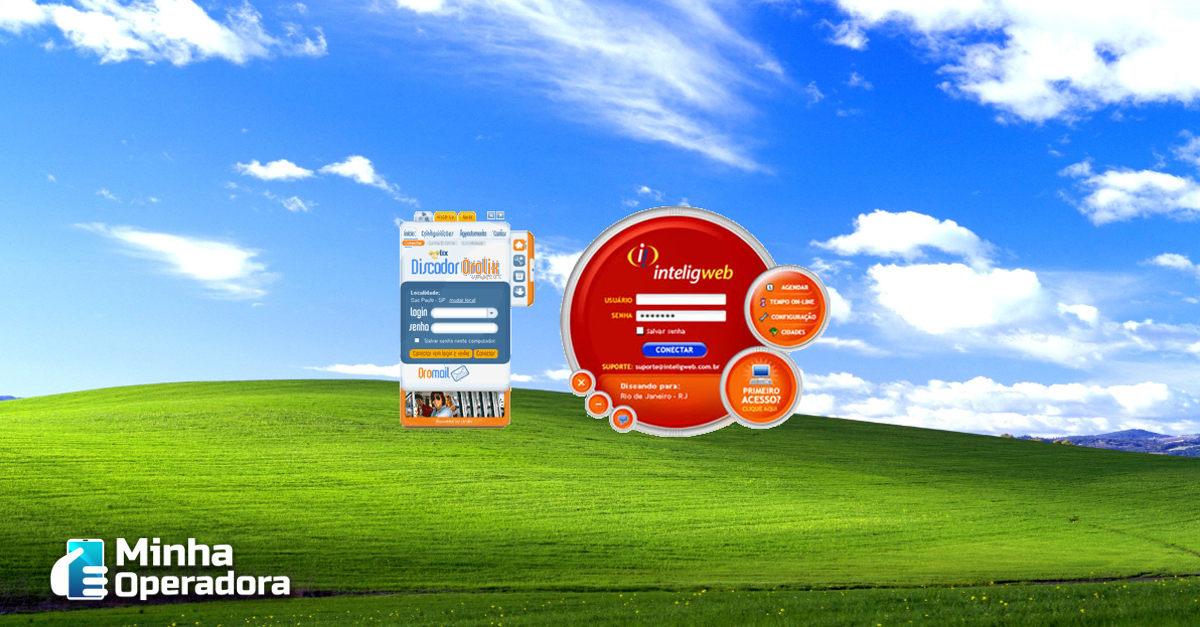 Imagem dos discadores Orolix e InteligWeb.