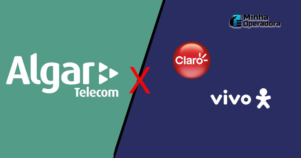 Ilustração Algar Telecom, Claro e Vivo