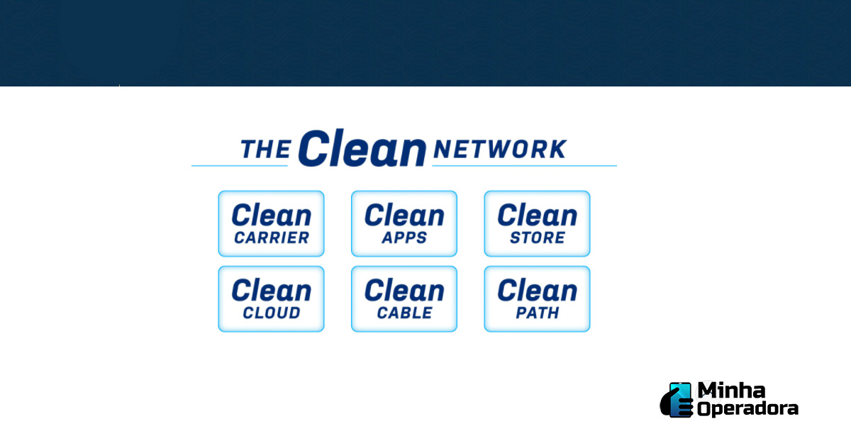 Interface do site Clean Network