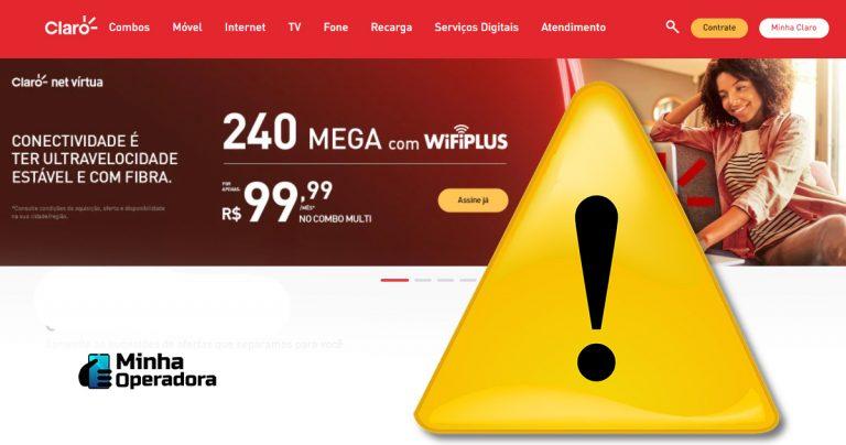 Claro leva advertência do Conar por oferta de banda larga