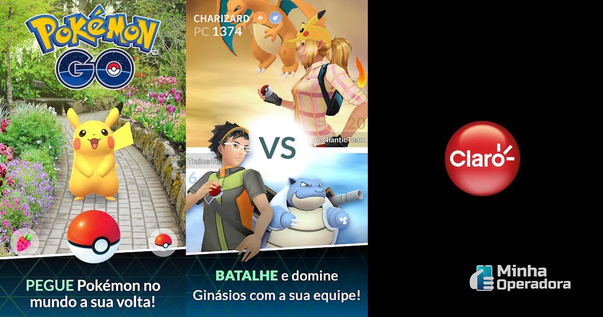 Ilustrações Pokémon Go (Niantic) e Claro