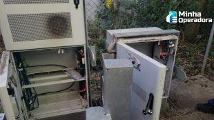 Polícia prende em flagrante homem roubando equipamentos de telecom