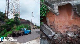 Torre da Vivo ameaça cair sobre casas no Amazonas, diz jornal
