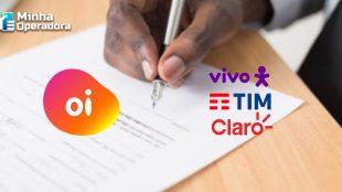 Vivo, Claro e TIM assinam contrato de compra da Oi Móvel