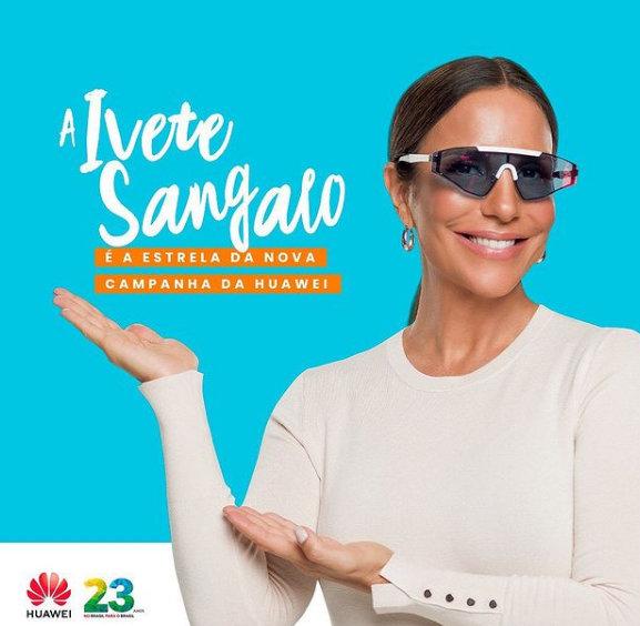 Ivete Sangalo na Huawei