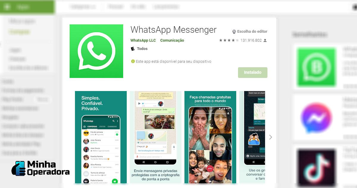 WhatsApp na Play Store