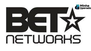 Logotipo da BET Networks em preto, com o fundo branco.
