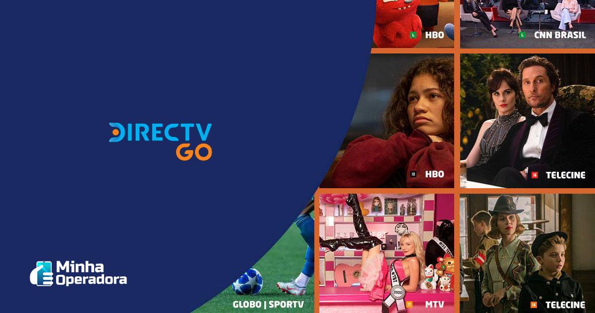 Divulgação DirecTV Go, que começa a receber afiliadas da TV Globo.