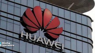 Fachada da empresa chinesa, Huawei.