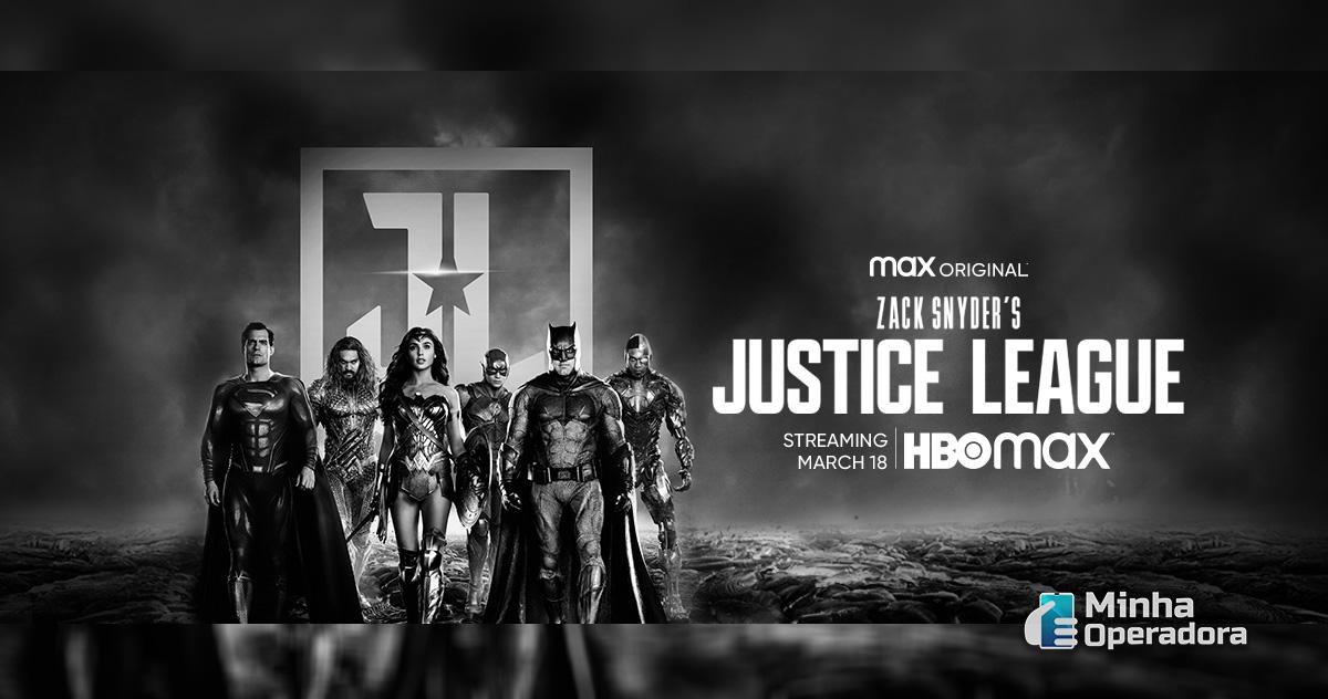 """Divulgação do """"Snyder Cut"""", versão com visão do diretor """"Zack Snyder"""" para o filme """"Liga da Justiça""""."""