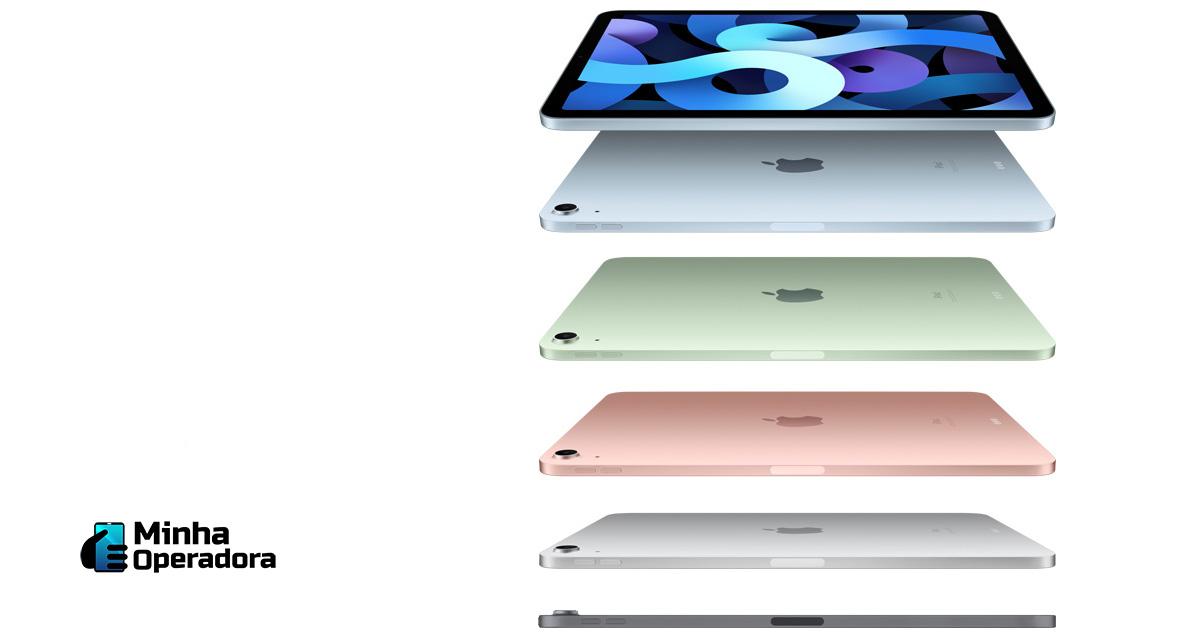 Divulgação dos iPads pela Apple.