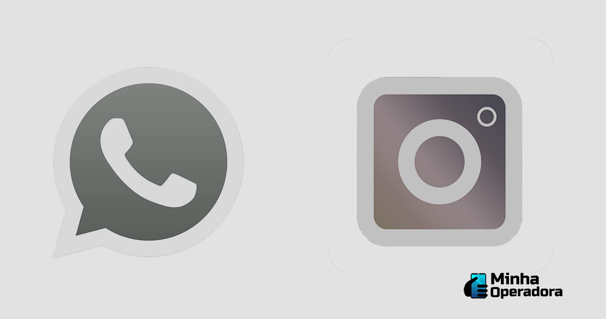 Logotipos WhatsApp e Instagram.