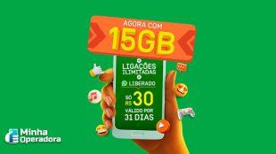 Oi oferta plano pré mensal de 15GB de internet por R$ 30