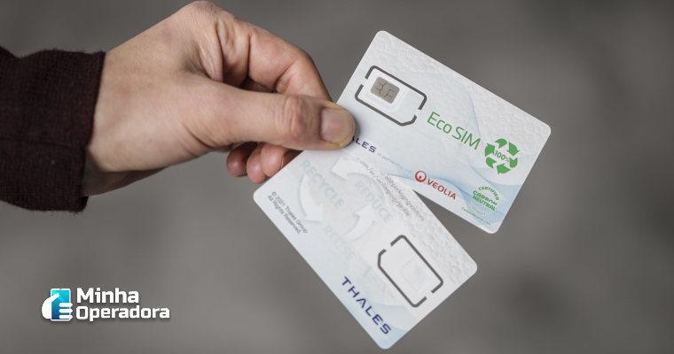Pensando no meio ambiente, empresa lança cartão SIM ecológico